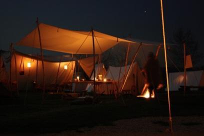 Abendstimmung des alamannischen Lagers
